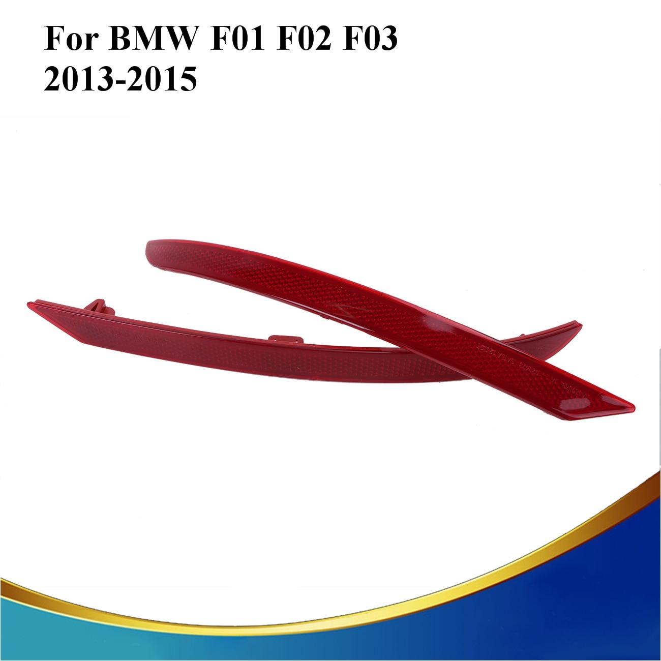 2PCS Red Lens Rear Bumper Reflector Fog Warn Light  For BMW F01 F02 F03 740i 750i 760Li 2013 2014 2015 Replacement #3098