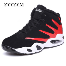 ZYYZYM Men Casual Shoes Autumn Winter Lace-Up Unisex Style Fashion Sneakers Plush Keep Warm Boots Snow