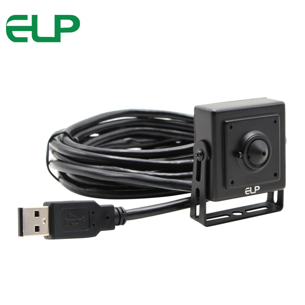ELP 1080P Full HD H.264 30fps Industrial Cam 3.7mm lens Mini Usb Webcam Camera CCTV With MIC Audio Microphone for ATM Kiosk elp 1mp hd ov9712 cmos h 264 mjpeg infrered usb webcam cam module cctv board ir usb camera wide angle for industrial machines
