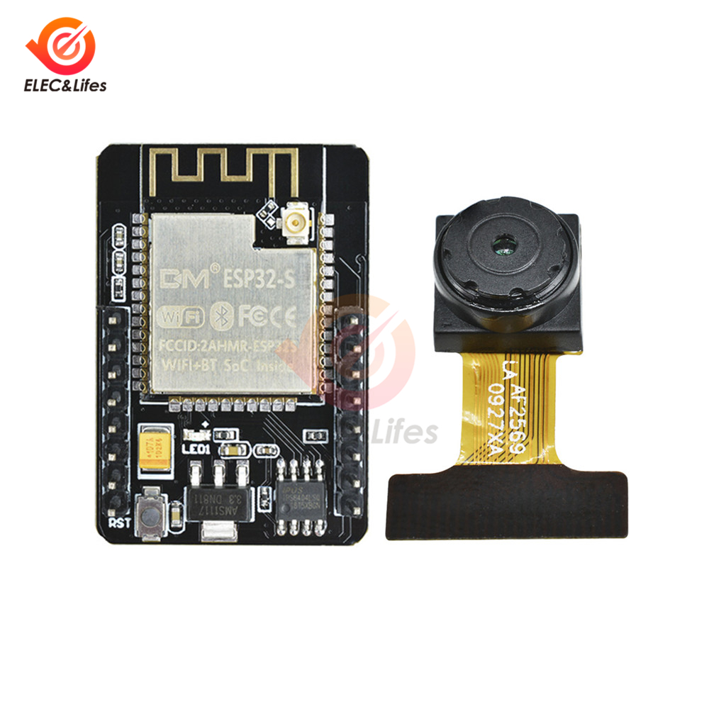 ESP32 ESP32-CAM WiFi Wireless Module ESP32-S 32-bit Dual-core OV2640 Camera Bluetooth Development Board & WeMos Mini D1 ESP32