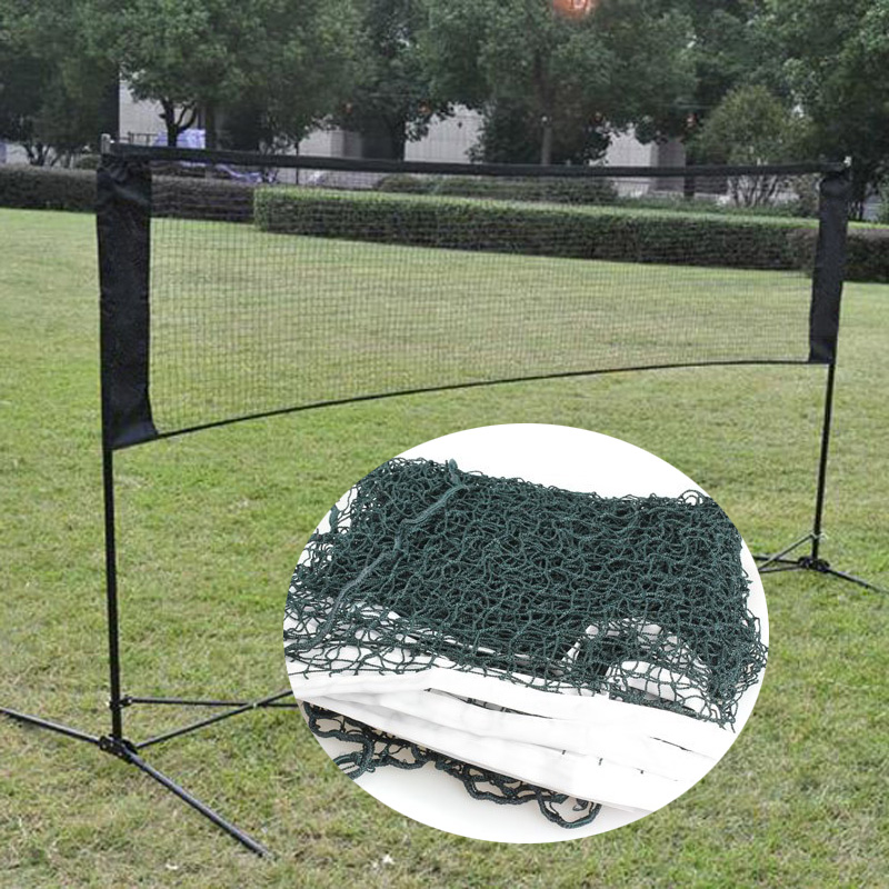 Portable Standard Badminton Net 6.1M*0.76M Indoor Outdoor Sports Tennis Volleyball Training Easy Setup For Court Beach Driveway