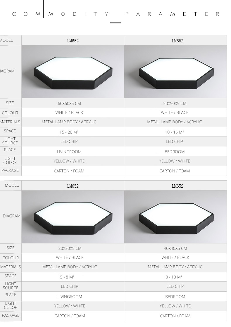 HTB152QPVSzqK1RjSZPcq6zTepXaf DX Hexagon LED Ceiling Light Modern Lamp Living Room Lighting Fixture Bedroom Kitchen Surface Mount Flush Panel Remote Control