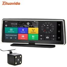 Bluavido 4G android dvr 8-дюймовый экран Автомобильная камера GPS навигации Full HD 1080 P видеорегистратор рекордео для видеорегистратора remote monitor