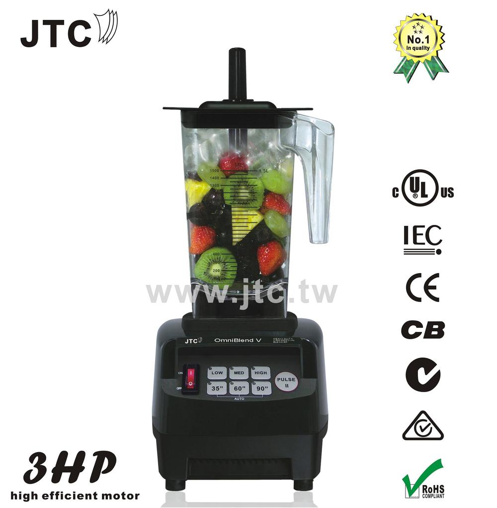 FREE SHIPPING JTC Omniblend Professional Commercial blender with PC jar, Model:TM-800A, Black xeoleo 2l heavy duty commercial blender food greater material 2000w food processing machine with pc jar juicer mixer bpa free