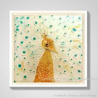 Decorative Art Handmade Oil Painting On Canvas Living Room Home Decor Wall Paintings Melancholy Peacock Abstract Animal Pictures