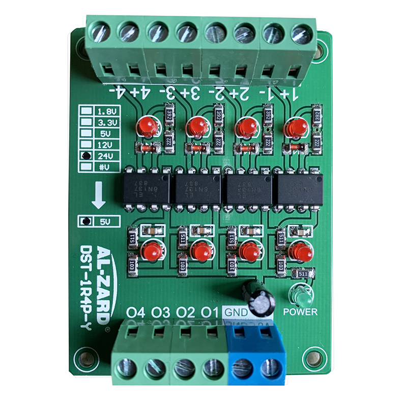 24V 12V 5V 3.3V 4 Channel High Speed Optocoupler Isolation Board PLC Signal Conversion Board Differential Transfer Collector