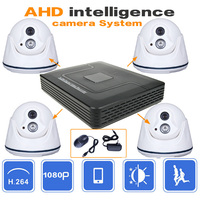 4CH CCTV System 1080P HDMI AHD CCTV DVR 4PCS 2MP IR Indoor Security Camera 1200 TVL