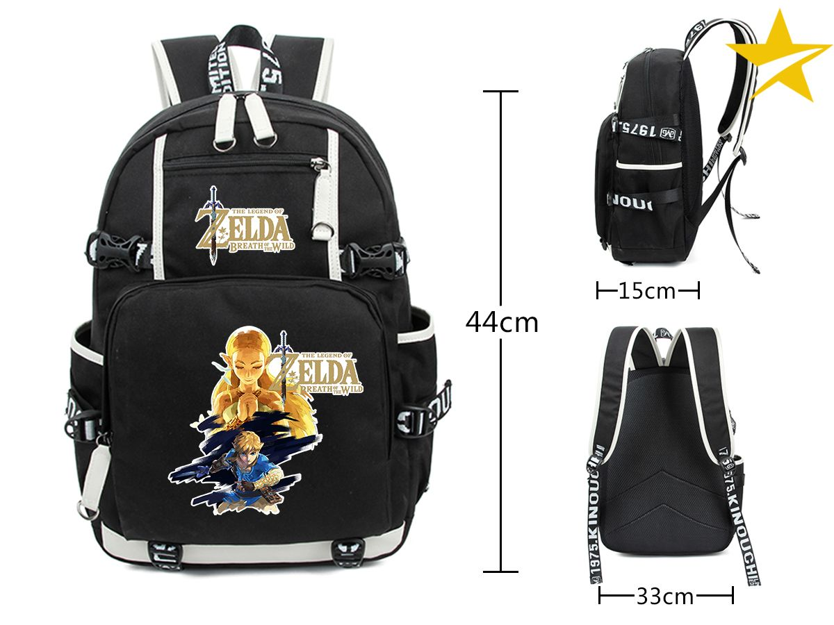 Anime Black Game PM Cosplay Backpack Bag Accessory Wallet