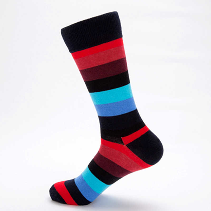 5b779f9b11e ... Stripe Funky Colorful Cool Socks Happy Mens Novelty Loafer Cotton Socks  Funny Socks Premium Rainbow Striped ...