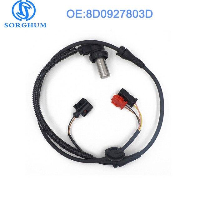 8D0927803D Front ABS Wheel Speed Sensor For 2000-2004 VW Passat For Audi A6 Quattr 4B0927803C  ALS424 AUDI A4 SKODA VW Passat B5