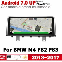 IPS Android 7.0 up car multimedia player gps navigation for BMW M4 F82 F83 2013~2017 NBT Noriginal style screen  2GB+32GB WiFi