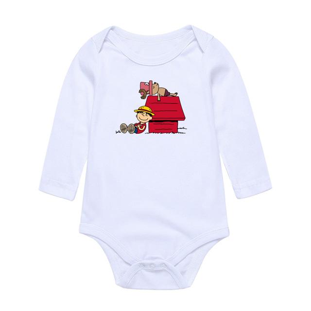 Bébé Vêtements Salopette Infantile Luffy Chopper Imprimer Drôle Bébé Garçons Filles Manches Longues Combinaisons O-cou Bébé Vêtements Ensemble