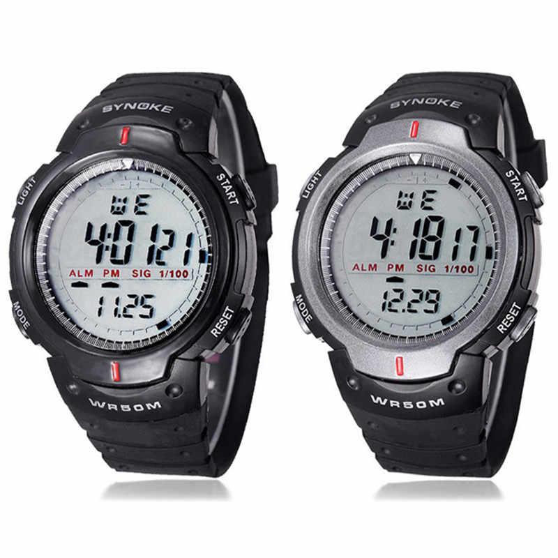 baa8582a43c1 Honhx новые часы для мужчин Спорт на открытом воздухе секундомер цифровой  для ...