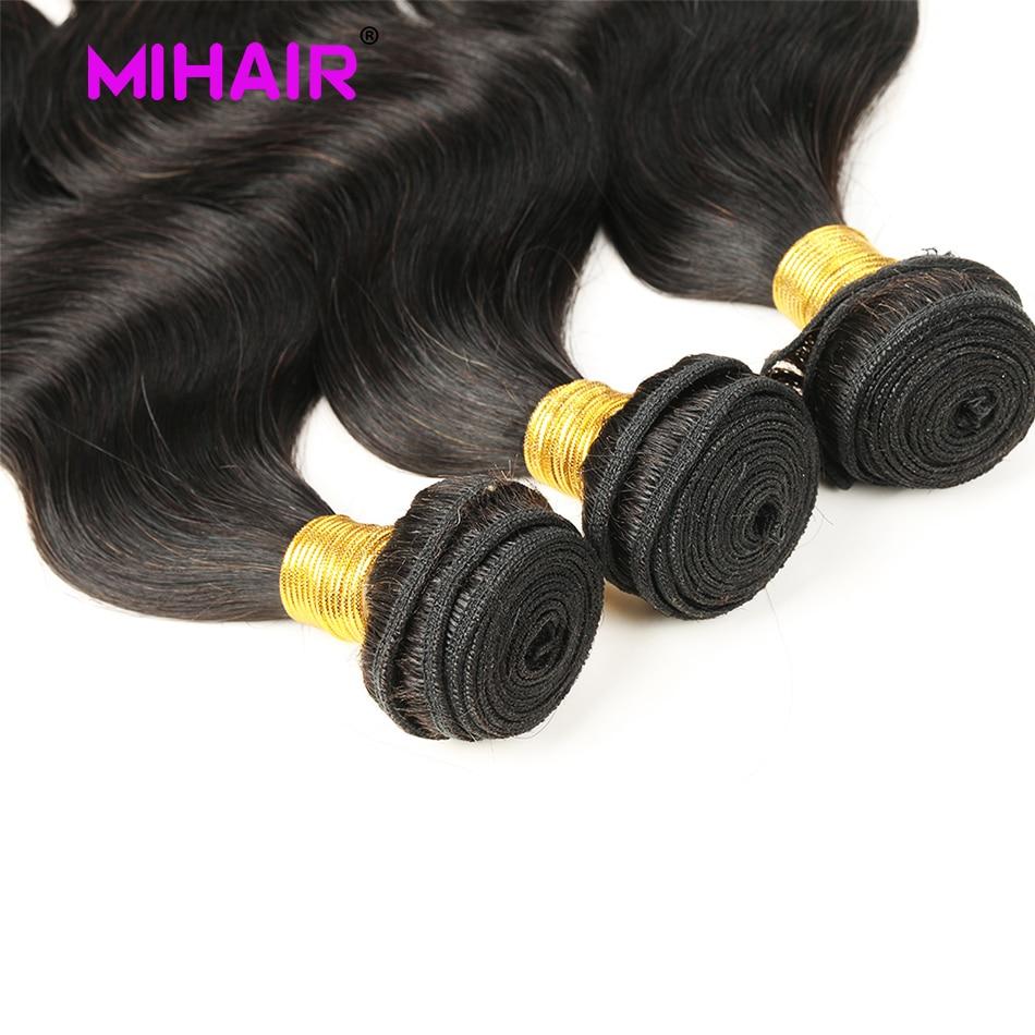 Indisk hårkroppsvåg Human Hair Bundles 1/3/4 Bundles Human Hair - Mänskligt hår (svart) - Foto 4