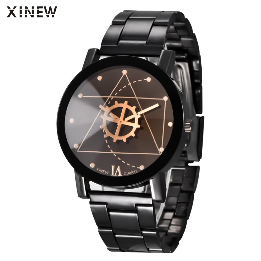 Superior Fashion XINEW Women Mens Stainless Steel Watches Retro Quartz Analog Wrist Watch July 15