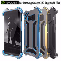 R JUST Gundam For Samsung Galaxy S7 S7 Edge Case Original Design Armor Shell Metal Aluminum