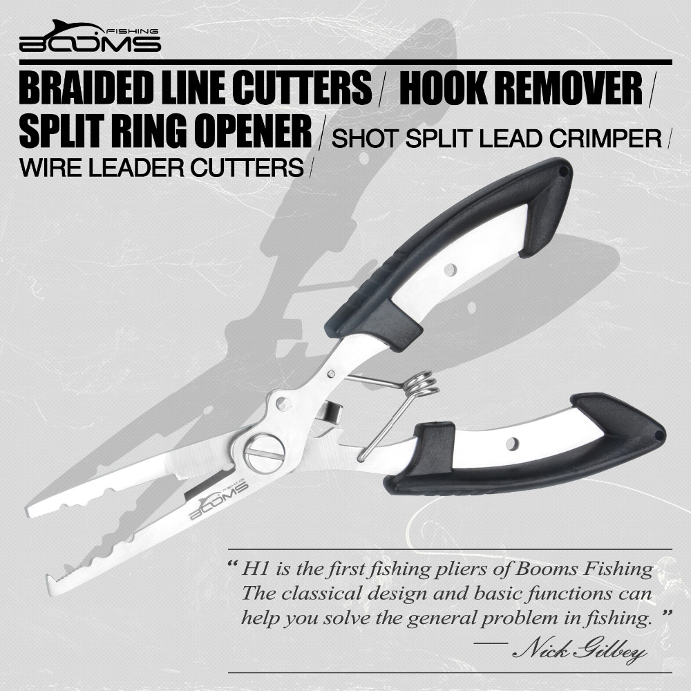 Booms Fishing H1 Fishing Pliers and BL027 Fish Grip Stainless Steel Tools with Sheath Lanyard in Fishing Tools from Sports Entertainment