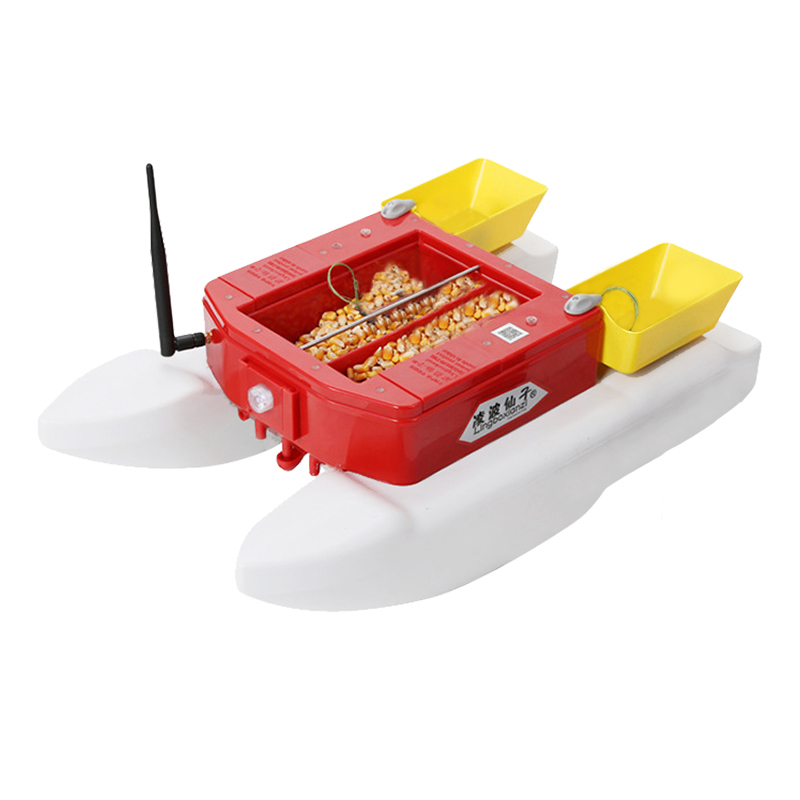 Alert Fishing Bait Boat T1688 4kg Fish Food 500m Remote Control 4 Lure Warehouse For Smart Fishing Rc Fish Finder Boat