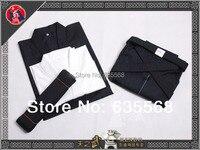 High Quality Cotton Iaido Kendo Aikido Gi Hakama Obi Underwear Martial Arts Uniform Sportswear Dobok Free Shipping