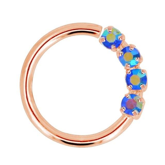 кольцо в виде кольца для носа 18 г гибкие серьги с блестящими фотография