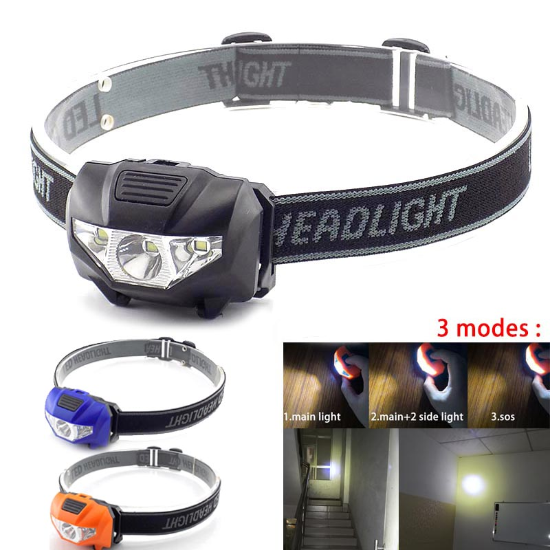 High Power Mini LED Headlamp Frontal Flashlight AAA Battery Small Head Light Lamp Torches Headlight Lantern For Camping