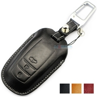 Leather Car Key case for TOYOTA highlander Alphard crown rav4 camry corolla prado Key holder wallets keychain auto accessories