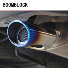 BOOMBLOCK Car Exhaust Muffler Pipe Cover Outlander For Mitsubishi Outlander 2013 2014 2015 Stainless Steel Auto Car Accessories car accessories car sticker stainless steel slim for outlander wording 3d letter sticker trim for mitsubishi outlander