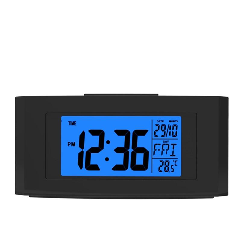LCD électronique émettant un réveil enfants snooze réveil avec rétro-éclairage table calendriers numériques horloge avec thermomètre