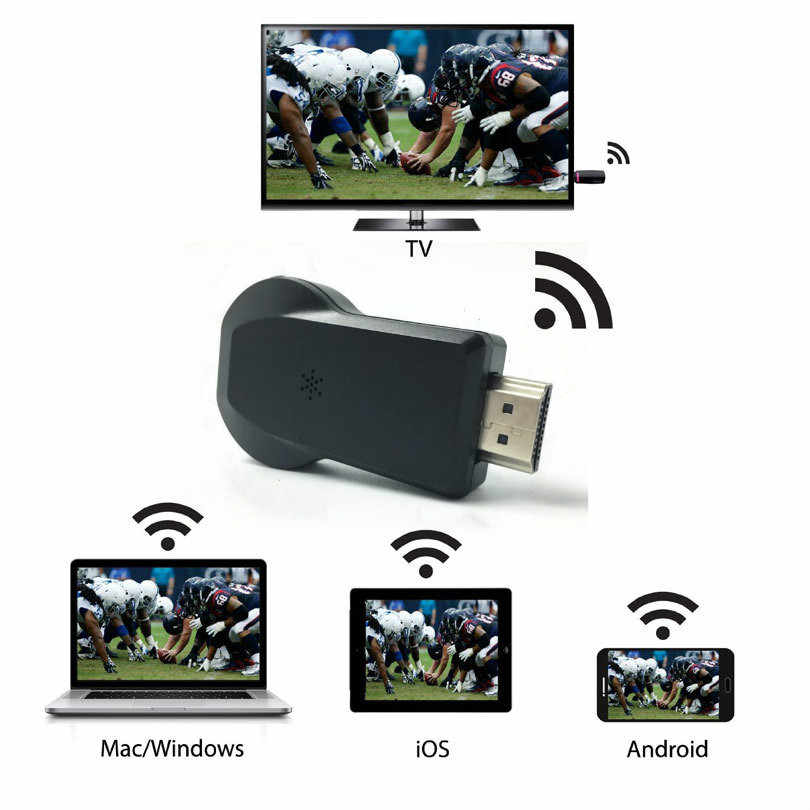 Ykstar M9 Plus Wifi 1080P Full HD HDMI TV Stick Nirkabel Airplay Dongle Receiver Miracast untuk Ponsel Tablet PC