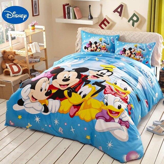 Blauw Disney Cartoon Mickey Minnie Mouse Donald Duck Goofy ...