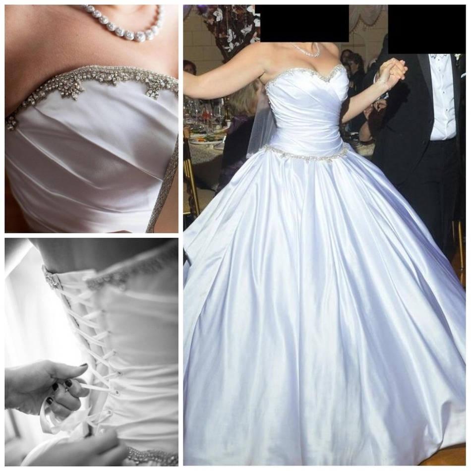 Pnina Tornai 2015 Sweetheart Ball Gown robe de mariage Wedding ...