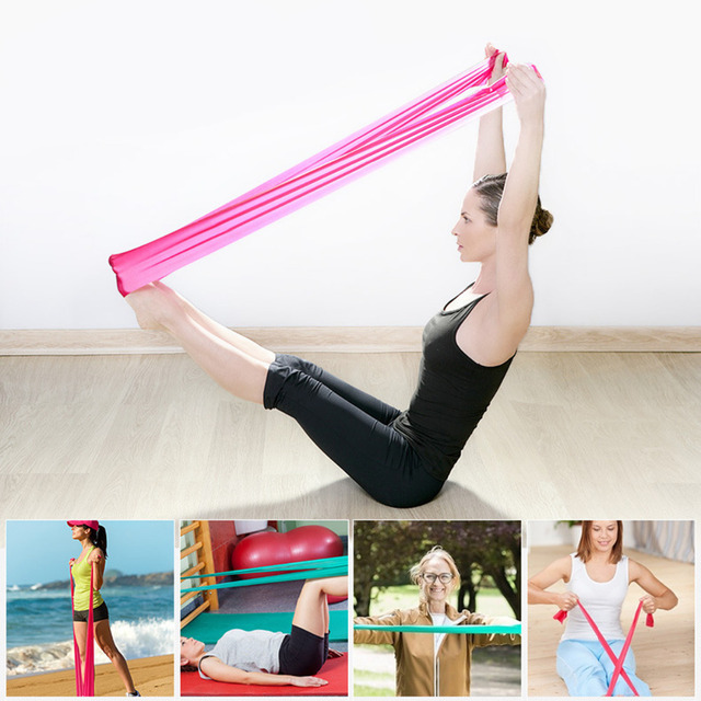 Hewolf 10Pcs Hot Elastic Yoga Pilates Rubber Stretch Resistance Band,1.2m Arm Back Leg Gym Sport Pull Stretch Fitness Equipments