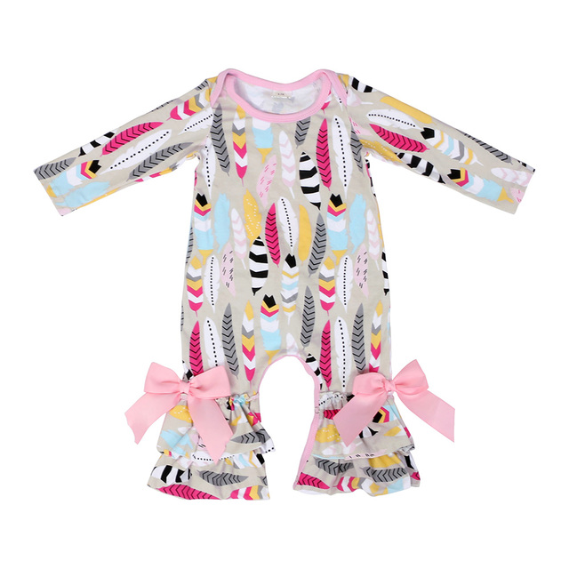 Kaiya Angel Baby Rompers Feather Newborn Baby Clothes Fall Long