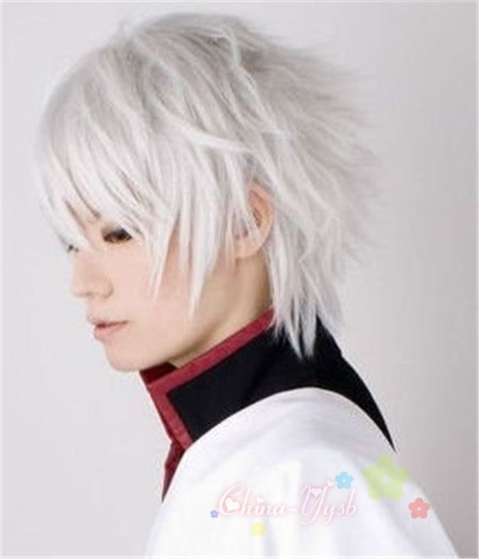 Cool Man Boys Short Hair Wig New Vogue Sexy Male Cosplay Anime Wigs