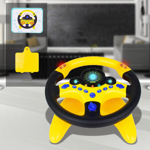 Image 2 - Oyuncak araba tekerleği çocuklar bebek interaktif oyuncaklar çocuklar direksiyon hafif ses ile simülasyon sürüş araba oyuncak eğitim oyuncak hediye