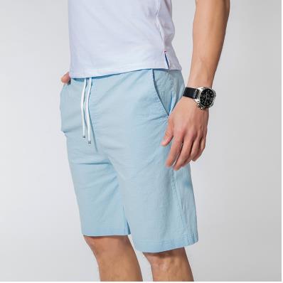 Мужские летние плюс Размеры эластичный пояс середине Повседневное Капри прямого кроя человек дышащий Лен свободные штаны Для мужчин более Размеры d обтягивающие брюки - Цвет: 4