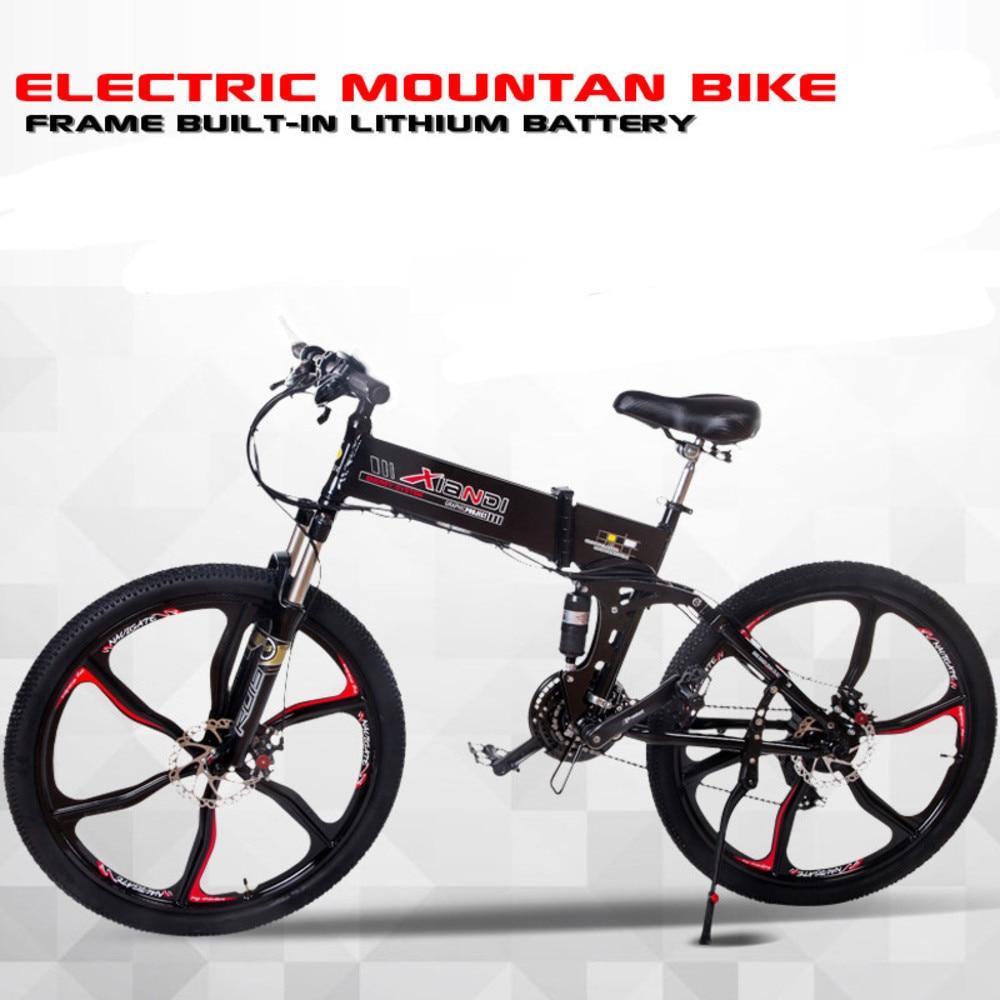 LOVELION Inch Mountain Bike Frame 48V Electric Lithium Battery Strong Hiding Power 500W - 350W Mute Ebike 21 Hybrid Engine Speed