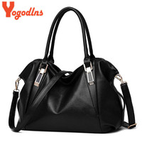 Yogodlns Designer Women Handbag Female PU Leather Bags Handbags Ladies Portable Shoulder Bag Office Ladies Hobos