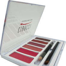 CIBBCCI Professional Multicolor lip Beauty Makeup 6 Colors Lipstick Palette Lips Tint Lipstick Cosmetic Makeup