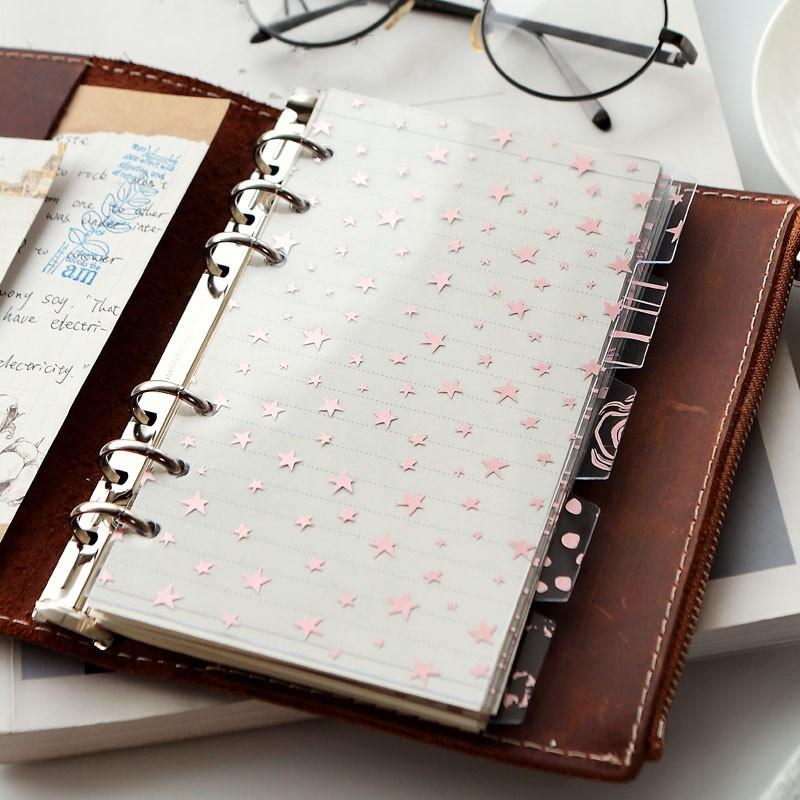 5Pcs/set A5 A6 Notebook Divider Refill Notebook Journal Planner Spiral Loose Leaf Stationery Office School Supplies