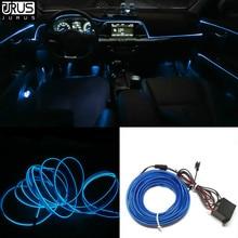 JURUS 5 м автомобильный светильник s 12 В El провод Гибкая веревка неоновая Трубная линия светящаяся салонная плоская автомобильная светодиодная лента окружающий светильник автомобильный светильник
