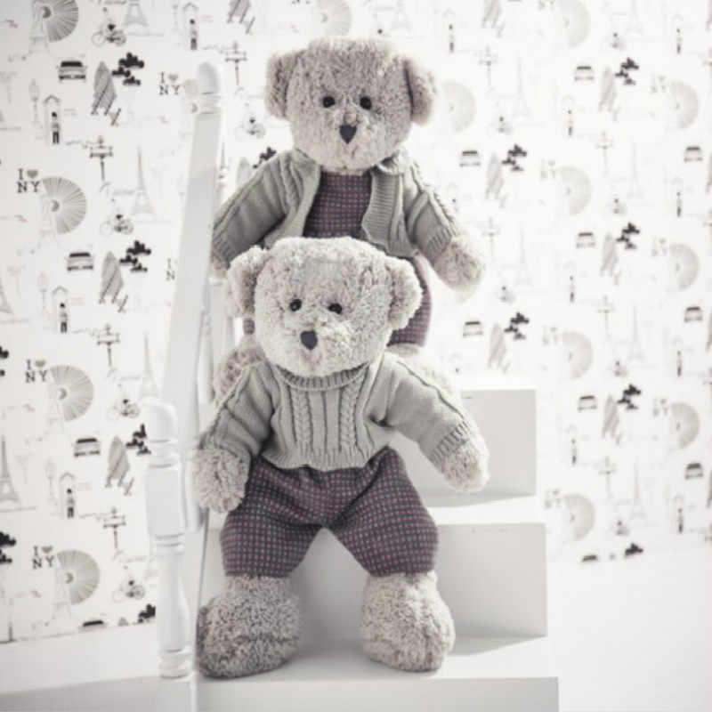 2018 Animais Brinquedos de Pelúcia Original Cinza Dos Homens e das Mulheres Presentes Teddy Bear Stuffed Pano Presentes de Aniversário Brinquedos Para Crianças brinquedos de pelúcia