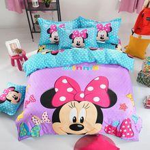 Kids Mickey Minnie Mouse Duvet Cover Present Bedclothes 3d Bedding Sets for Full Queen 2pcs 3pcs