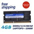 Новый ноутбук KEMBONA ddr3 4 Гб pc10600 1333 МГц ddr ram память 204pin  бесплатная доставка