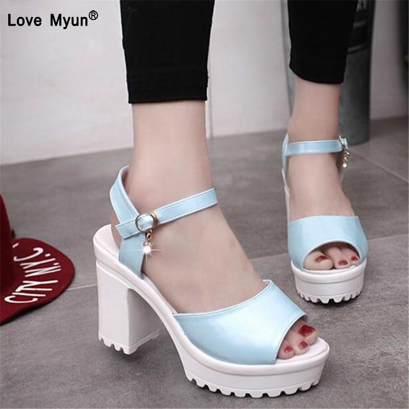 Summer Women Sandals Open Toe Flip Flops Womens Sandles Thick Heel Women Shoes Korean Style Gladiator Shoes High Heel Shoes444
