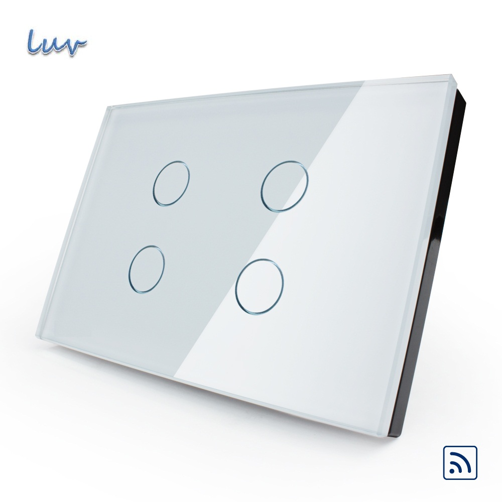 Manufacturer, Smart Touch & Remote Switch,US standard,VL-C304R-81, Crystal Glass Panel, Wall Light Touch Switch+ LED Indicator siste s кардиган