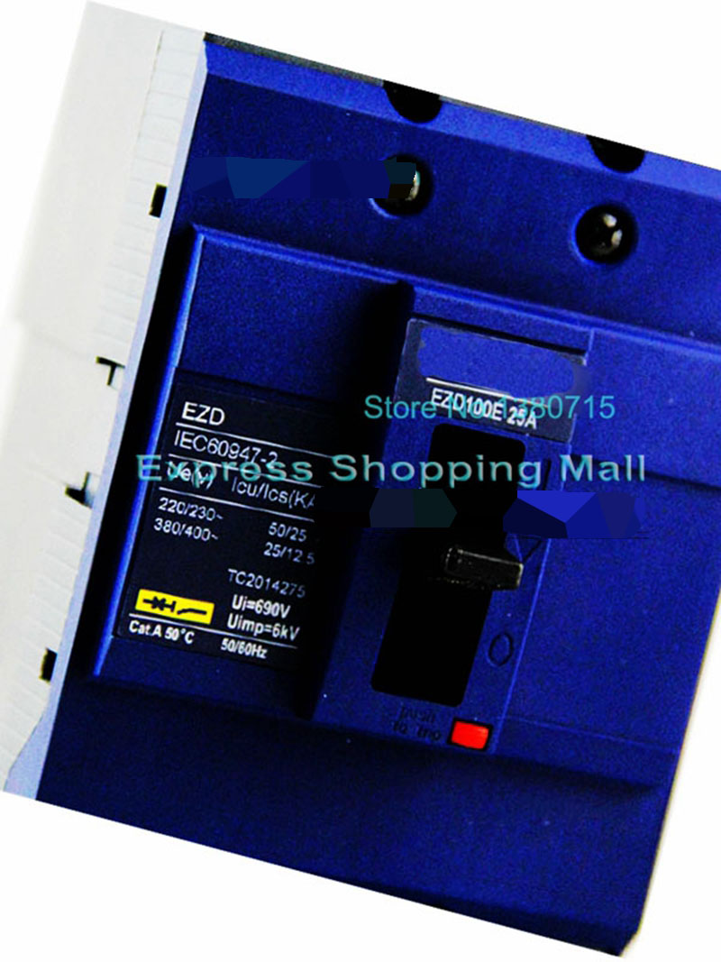 New EZD100E 3P 25A EZD100E3025N Plastic Breaker dhl ems 5 lots 1pc new for sch neider vigi dpn ele 1p n 25a breaker f2