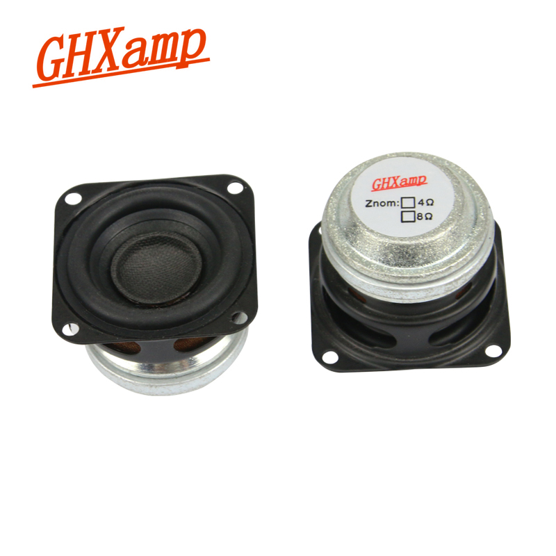 GHXAMP 1.5 inci 10W Portable Bluetooth Speaker 4OHM Separa penuh Speaker Mini Neodymium MID Woofer Teater Rumah DIY HIFI 2PCS