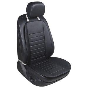 Image 2 - Cojín de cintura para coche, ropa de cuero verde, asiento de coche transpirable y cómodo, funda de cojín de asiento de coche