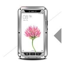 Para Xiaomi mi Max Cajas Del Teléfono Híbrido AMOR MEI Prueba de Golpes Dropproof Cubierta de la Caja A Prueba de Polvo para Xiaomi mi Max-Plata